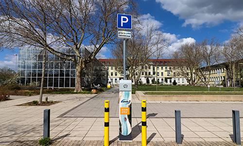 2020 04 14 Ladesäule Gesundheitszentrum Rudolf Breitscheid Straße Leuna 500x300