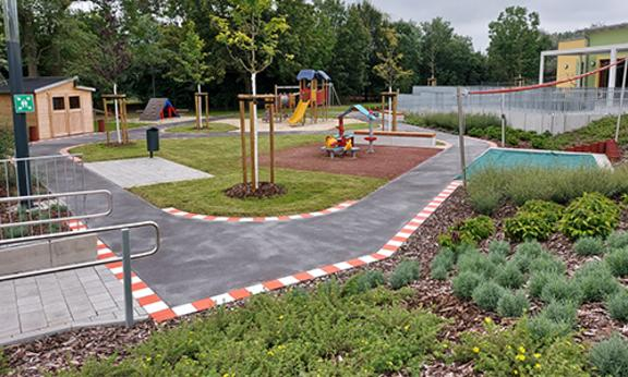 Kita Nelkenweg Spielplatz web ©Heike Hickmann